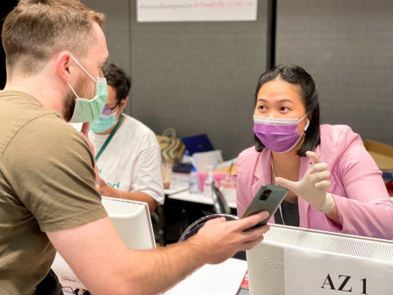 จิตอาสา มทร.อีสาน รับลงทะเบียนฉีดวัคซีนโควิด ประจำวันที่ 19 มิ.ย. 64